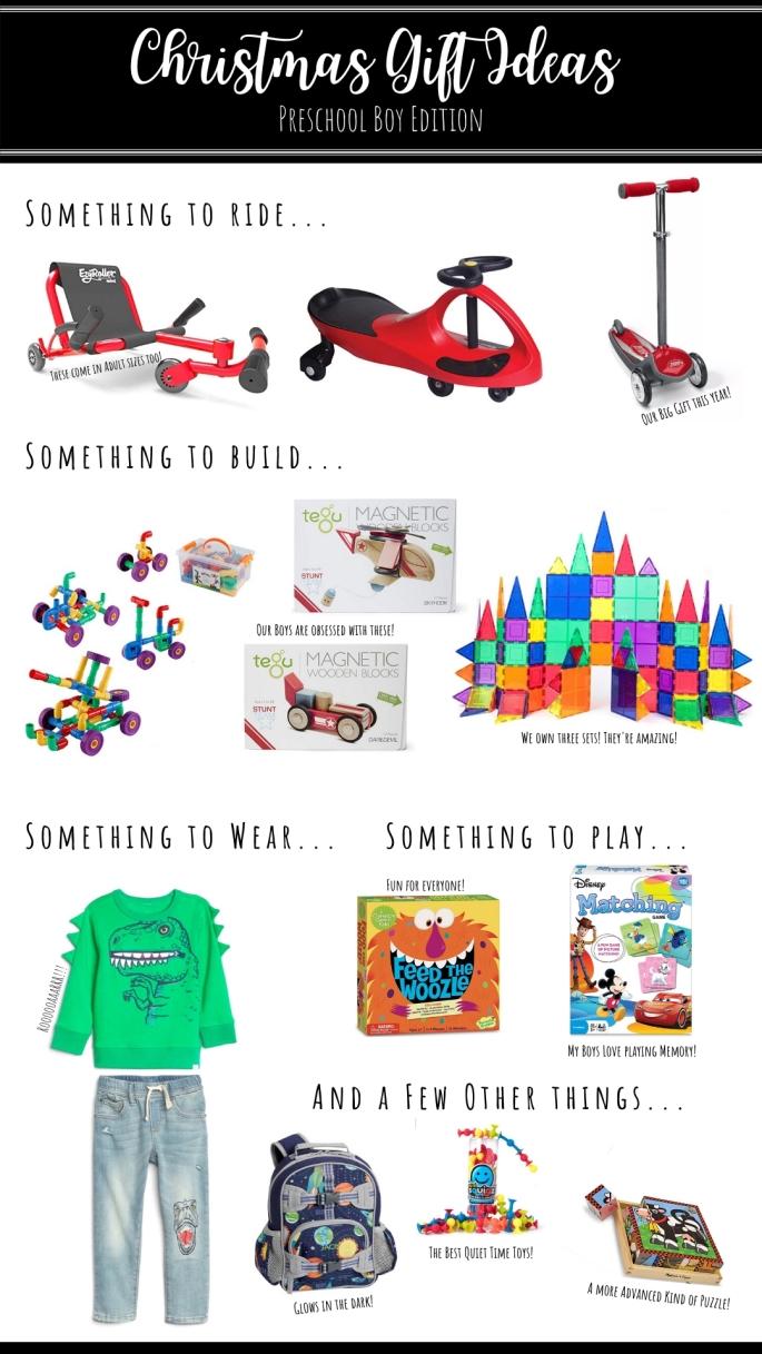 Christmas Gift Ideas_ Preschool Boy Edition